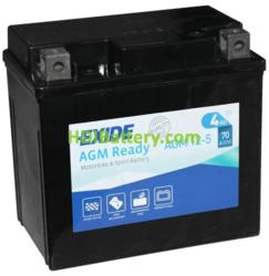 Bateria para moto Exide AGM12-5 12V 4AH