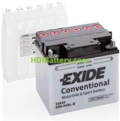 Batería para moto Exide E60-N30L-B 12 Voltios 30 Amperios-hora
