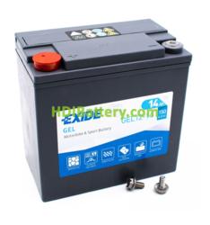Batería para moto Exide GEL12-14 12 Voltios 14 Amperios