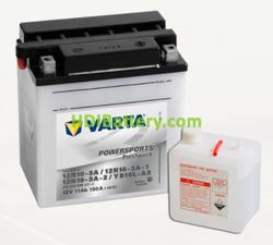 Bateria para moto Varta 12v 11ah 150A PowerSports Freshpack 12N10-3A/12N10-3A-1/12N10-3A-2/YB10L-A2 136 x 91 x 146 mm