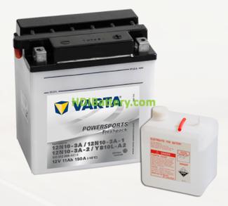 Bateria para moto Varta 12v 11ah 150A PowerSports Freshpack 12N10-3A-12N10-3A-1-12N10-3A-2-YB10L-A2 136 x 91 x 146 mm