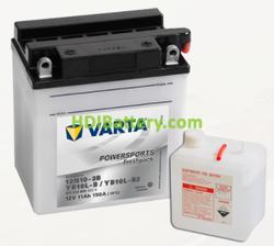 Bateria para moto Varta 12v 11ah 150A PowerSports Freshpack 12N10-3B/YB10L-B/YB10L-B2 136 x 91 x 146 mm