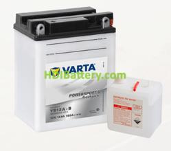 Bateria para moto Varta 12v 12ah 160A PowerSports Freshpack YB12A-B 136 x 82 x 162 mm