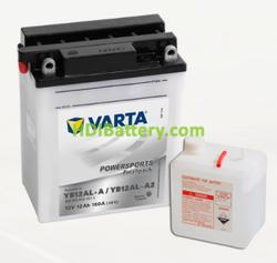 Bateria para moto Varta 12v 12ah 160A PowerSports Freshpack YB12AL-A/YB12AL-A2 136 x 82 x 161 mm