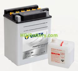 Bateria para moto Varta 12v 14ah 190A PowerSports Freshpack YB14-B2 134 x 89 x 166 mm
