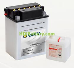 Bateria para moto Varta 12v 14ah 190A PowerSports Freshpack YB14A-A2 135 x 90 x 177 mm