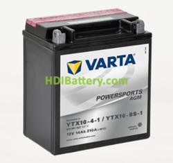 Bateria para moto Varta 12v 14ah 210A PowerSports AGM YTX16-4-1/YTX16-BS-1 150 x 87 x 161 mm