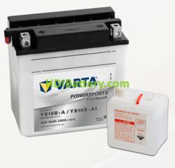 Bateria para moto Varta 12v 16ah 200A PowerSports Freshpack YB16B-A/YB16B-A1 158 x 89 x 162 mm