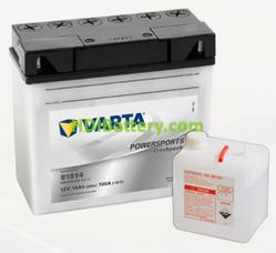 Bateria para moto Varta 12v 18ah 100A PowerSports Freshpack 51814 186 x 82 x 171 mm