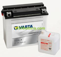 Bateria para moto Varta 12v 18ah 200A PowerSports Freshpack YB18L-A 181 x 90 x 160 mm
