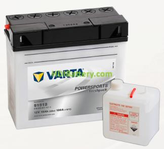 Bateria para moto Varta 12v 19ah 100A PowerSports Freshpack 51913 186 x 82 x 171 mm