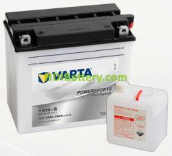Bateria para moto Varta 12v 19ah 240A PowerSports Freshpack YB16-B 176 x 101 x 156 mm