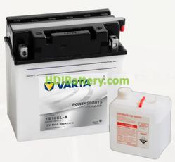 Bateria para moto Varta 12v 19ah 240A PowerSports Freshpack YB16CL-B 176 x 101 x 176 mm