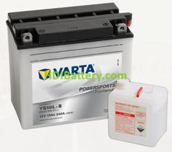 Bateria para moto Varta 12v 19ah 240A PowerSports Freshpack YB16L-B 176 x 101 x 156 mm