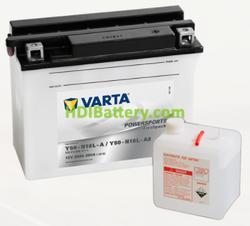 Bateria para moto Varta 12v 20ah 260A PowerSports Freshpack Y50-N18L-A/Y50N 18L-A2 207 x 92 x 164 mm