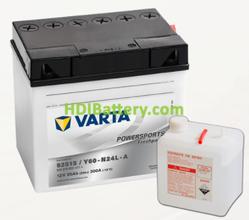 Bateria para moto Varta 12v 25ah 300A PowerSports Freshpack 52515 186 x 130 x 171 mm