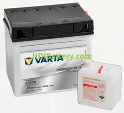 Bateria para moto Varta 12v 30ah 180A PowerSports Freshpack 53030 186 x 130 x 171 mm