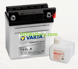 Bateria para moto Varta 12v 3ah 30A PowerSports Freshpack YB3L-B 100 x 58 x 112 mm
