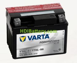 Bateria para moto Varta 12v 3ah 40A PowerSports AGM YT4L-4/YT4L-BS 114 x 71 x 86 mm