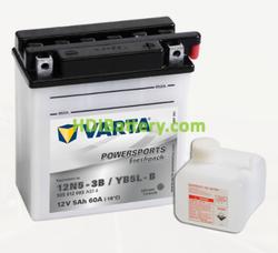 Bateria para moto Varta 12v 5ah 60A PowerSports Freshpack 12N5-3B/YB5L-B 121 x 61 x 131 mm