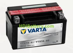 Bateria para moto Varta 12v 6ah 105A PowerSports AGM YTX7A-4/YTX7A-BS 151 x 88 x 94 mm
