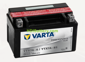 Bateria para moto Varta 12v 6ah 105A PowerSports AGM YTX7A-4-YTX7A-BS 151 x 88 x 94 mm
