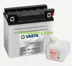 Bateria para moto Varta 12v 7ah 74A PowerSports Freshpack 12N7-3B/YB7L-B 136 x 76 x 134 mm