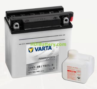 Bateria para moto Varta 12v 7ah 74A PowerSports Freshpack 12N7-3B-YB7L-B 136 x 76 x 134 mm