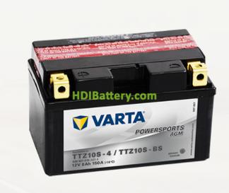 Bateria para moto Varta 12v 8ah 150A PowerSports AGM TTZ10S-4-TTZ10S-BS 150 x 87 x 93 mm