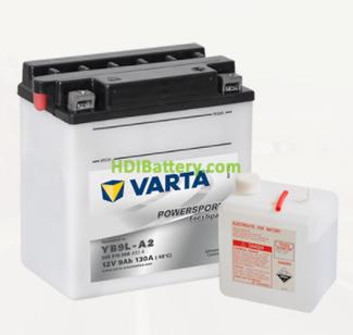 Bateria para moto Varta 12v 9ah 130A PowerSports Freshpack YB9L-A2 135 x 75 x 139 mm