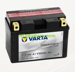Bateria para moto Varta 12v 9ah 200A PowerSports AGM TTZ12S-4/TTZ12S-BS 150 x 87 x 110 mm