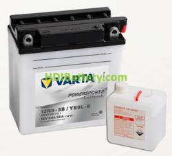 Bateria para moto Varta 12v 9ah 85A PowerSports Freshpack 12N9-3B/YB9-B 136 x 76 x 140 mm