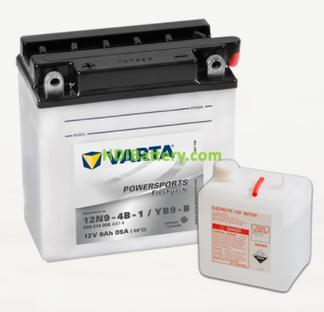 Bateria para moto Varta 12v 9ah 85A PowerSports Freshpack 12N9-4B-1-YB9-B 136 x 76 x 139 mm