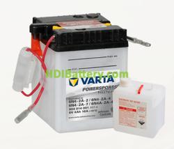 Bateria para moto Varta 6v 4ah 10A PowerSports Freshpack 6N4-2A-2/ 6N4-2A-4/ 9N4-2A-7/ 9N4-2A-4 71 x 71 x 96 mm