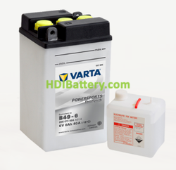 Bateria para moto Varta 6v 8ah 40A PowerSports Freshpack B49-4 91 x 83 x 161 mm