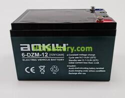 Batería para patinete eléctrico 12 Voltios 12 Amperios AOKLY POWER 6-DZM-12 (151X99X98mm)