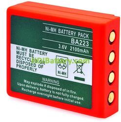 Bateria para puente grua compatible HBC 3.6V 2200mAh BA223000 BA223030 BA223