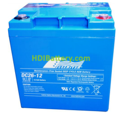 Batería para SAI/UPS 12V 26Ah Fullriver DC26-12A
