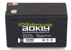 Batería para SAI/UPS 12V 9Ah Aokly Power 6FM9
