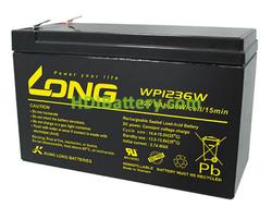 Batería para SAI/UPS 12V 9Ah LONG WP1236W