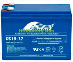 Batería para scooter eléctrico 12V 10Ah Fullriver DC10-12A