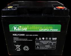 Batería para silla de ruedas LiFePO4 12.8 Voltios 40 Amperios Kaise KBLI12400 197x165x170 mm