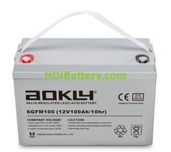 Batería para solar 12V 100Ah Aokly Power 6GFM100