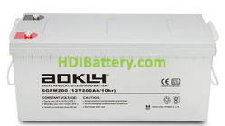 Batería para solar 12V 200Ah Aokly Power 6GFM200