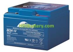 Batería para solar 12V 24Ah Fullriver DC24-12