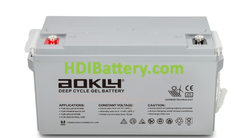 Batería para solar 12V 75Ah Aokly Power 6GFM75G