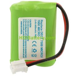Batería para teléfono AUDIOLINE DECT 7800 Micro 2,4V 400mAh