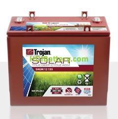 Batería plomo ácido Trojan Solar AGM SAGM 12 135 12V 135Ah Ciclo profundo 1700 Ciclos