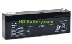 Batería plomo AGM 12 Voltios 2.6 Amperios 12v 2.6ah T1