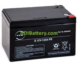 Batería plomo AGM 12V 12Ah FR T2 151x98x95mm Alto rendimiento